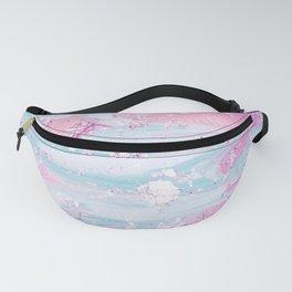 Shine Shimmer Pastel Pink and Blue Modern Fanny Pack