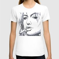 angelina jolie T-shirts featuring Angelina Jolie by The Curly Whirl Girly.