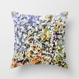 Purple Forum Cut Cookies Strain Resinous Amber Trichomes Dank Buds Close Up Throw Pillow