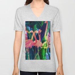 Flamingo Dance Unisex V-Neck