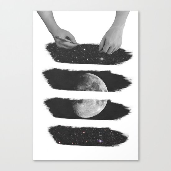 Draw me the moon Canvas Print