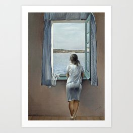 Salvador Dali Young Woman at a Window 1925 Artwork for Wall Art, Prints, Posters, Tshirts, Mwn, Women, Youth Art Print