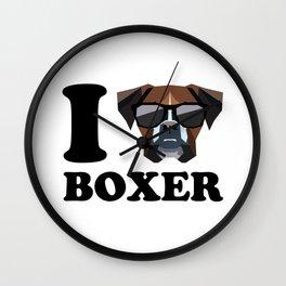 I Love Boxer modern v1 Wall Clock