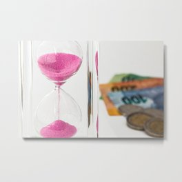 time is money Metal Print