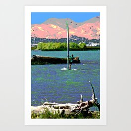 Sherman Island Wind Surfing Art Print