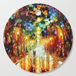 Romantic Starry Night Cutting Board