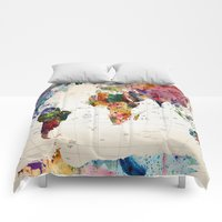 Comforters featuring map by mark ashkenazi