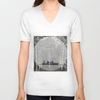 moonrise V-neck T-shirts featuring MOONRISE by Mari