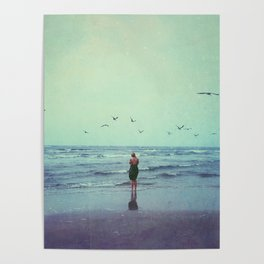 Woman on the Beach Poster