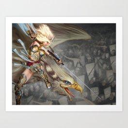 Saihlana - Champion of the Isharì Art Print