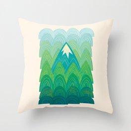 Towering Mountain Throw Pillow