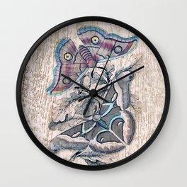 Saturnia butterflies Wall Clock