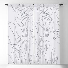 Monstera Illustration 02 Blackout Curtain
