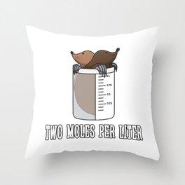 Two Moles Per Liter Gift Throw Pillow