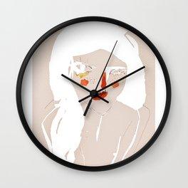 'messy hair' Wall Clock
