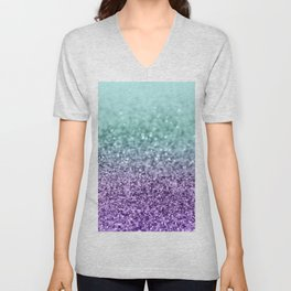 Mermaid Girls Glitter #9 #shiny #decor #art #society6 Unisex V-Neck