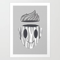 Wooden Head Boy Art Print