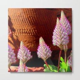 A Flurry Of Furry Flowers Metal Print