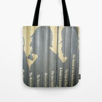 conan Tote Bags featuring Sherlock Holmes by Sir Arthur Conan Doyle by Madreflections