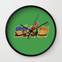 Jellybean Turtles  Wall Clock