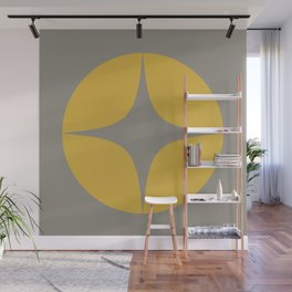 Atomic Age Neutra Single - Midcentury Modern Minimalism in Mustard and Gray Wall Mural