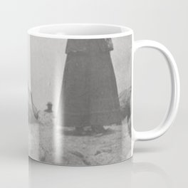 Eaten by Mountain Rats, Erin O'Keefe Epitaph - Pikes Peak Gravestone black and white photograph Coffee Mug