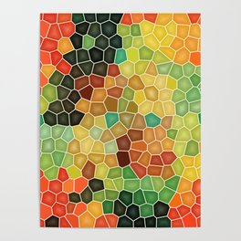 Colorful stained glass Poster