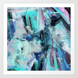 Abstract 7/10 Art Print