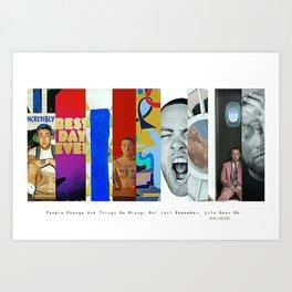 Mac Miller Album History Poster, Hypebeast Poster, Hip Hop Poster, Urban Wall Art, Music Posters Art Print
