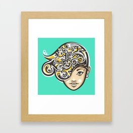 Swirly thoughts Framed Art Print