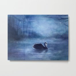 As The Swan In The Evening Metal Print