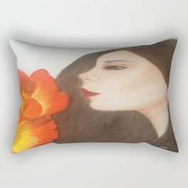 My life is like a Rose Rectangular Pillow