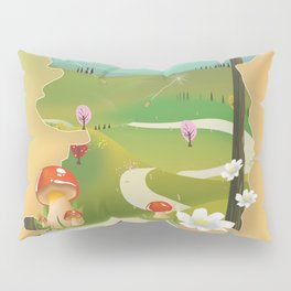 Ireland vacation poster. Pillow Sham