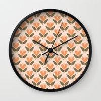 scandinavian Wall Clocks featuring RETRO SCANDINAVIAN by Je Suis un Lapin