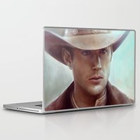 dean winchester Laptop & iPad Skins featuring Dean Winchester from Supernatural by Annike