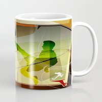 soccer Mugs featuring Soccer by Robin Curtiss