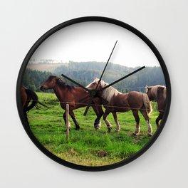 Team of Horses Wall Clock