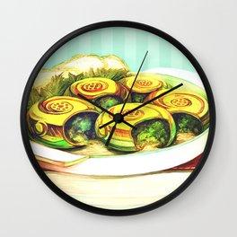 Golden Escargot Wall Clock