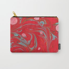 Red Marbled Carry-All Pouch
