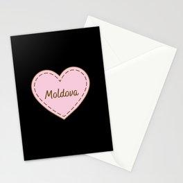 I Love Moldova Simple Heart Design Stationery Cards