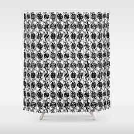 Royals // Black & White Shower Curtain