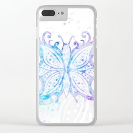 Butterfly Abstract G540 Clear iPhone Case