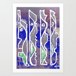 PEOPLE - Abstract Art Print