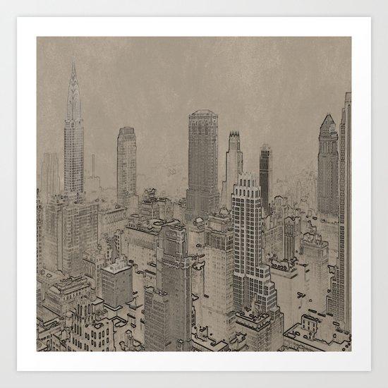 Old Cityscape Art Print