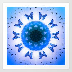 All things with wings (blue) Art Print