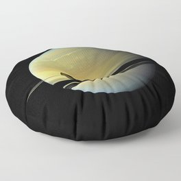 Saturn and its Moon Titan in Orbit Telescopic Photograph Floor Pillow