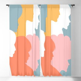 Girl power - together we persist  Blackout Curtain