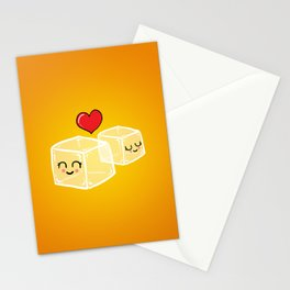 Ice cubes in love Stationery Cards