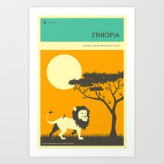 ETHIOPIA TRAVEL POSTER Art Print