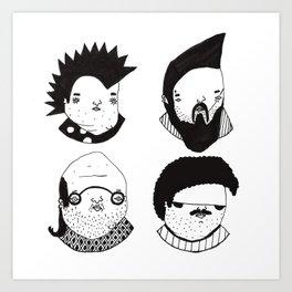 Busts 2° Part Art Print